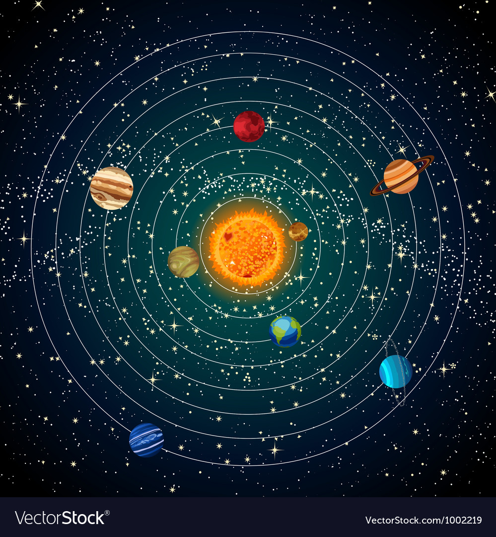 Solar system vector | Price: 1 Credit (USD $1)