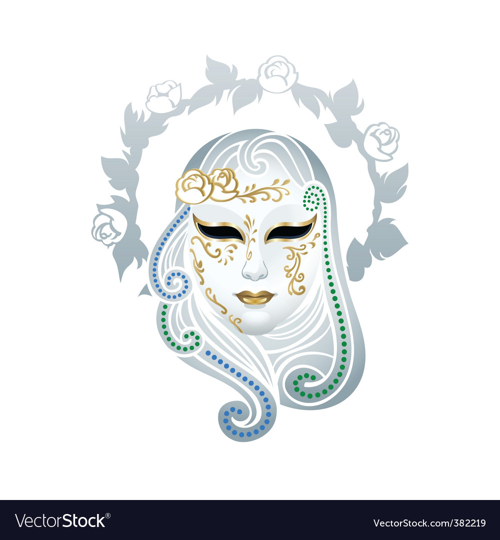 Venetian mask vector | Price: 3 Credit (USD $3)