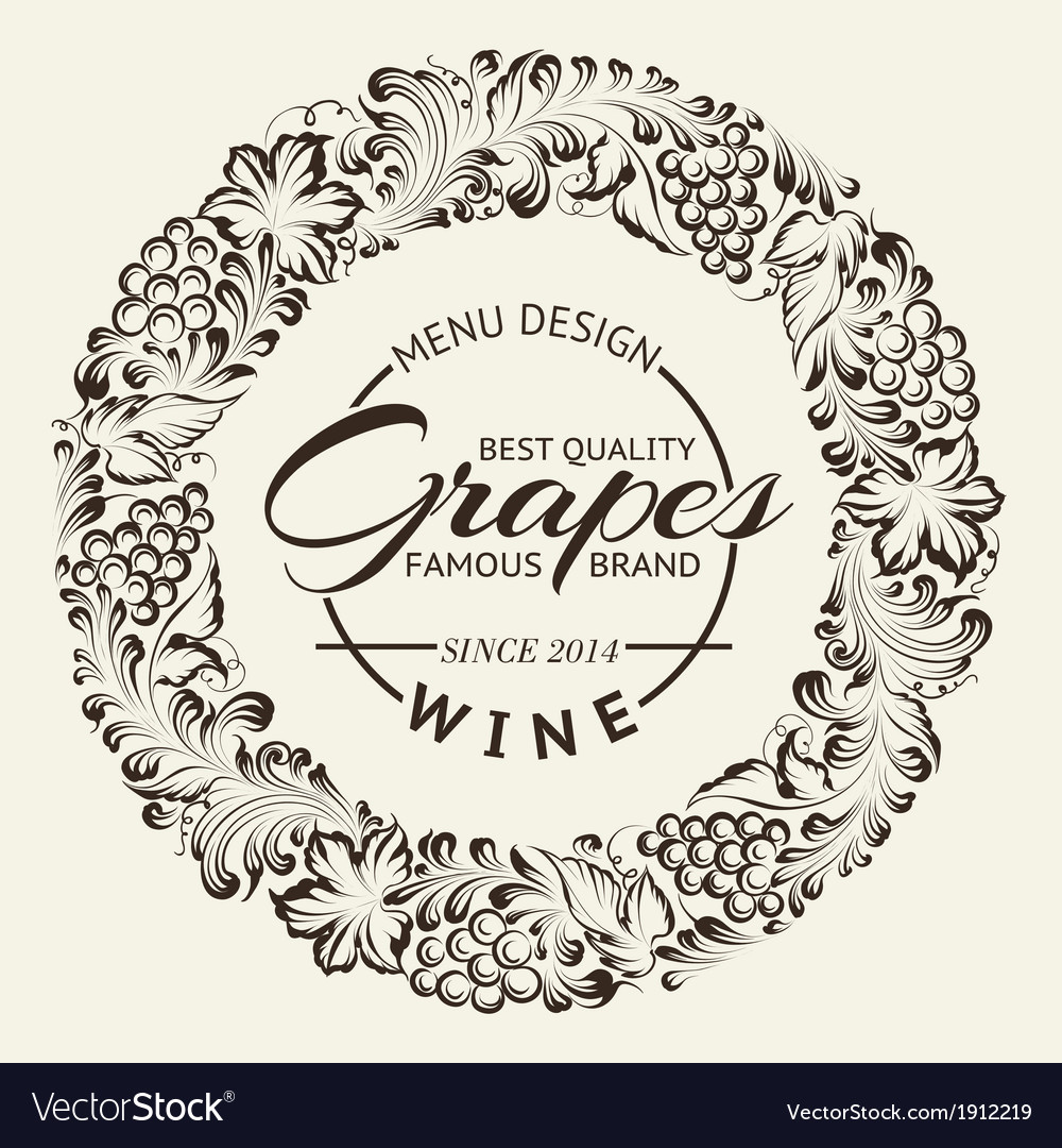 Wine list design layout on chalkboard vector | Price: 1 Credit (USD $1)