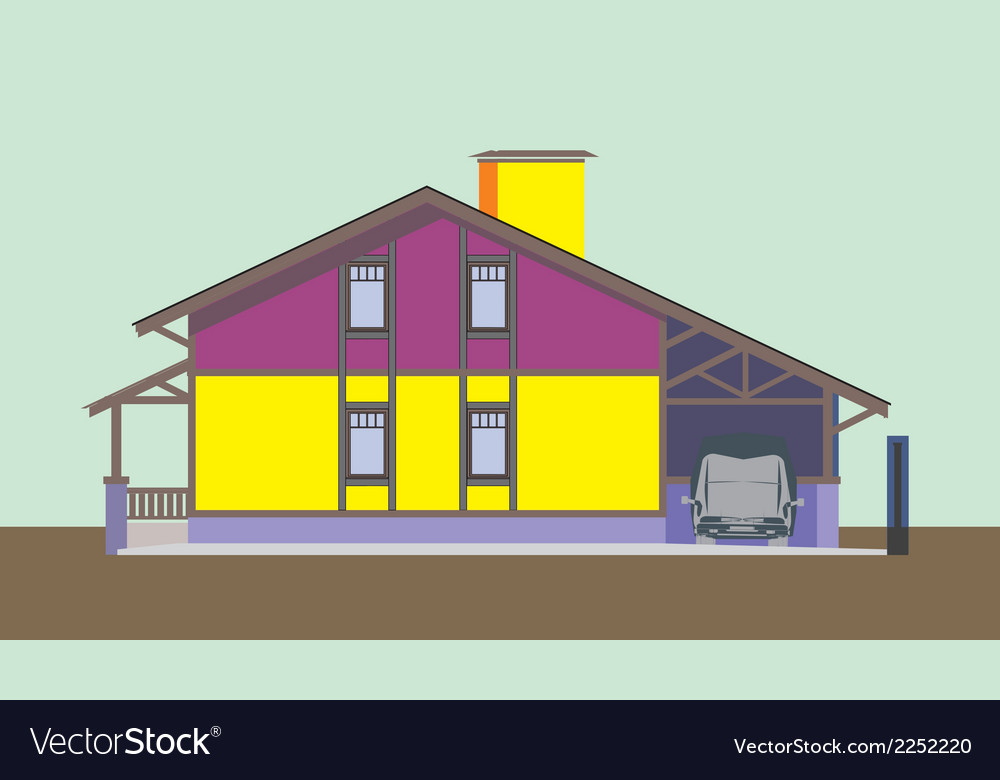 01 colored house v vector | Price: 1 Credit (USD $1)