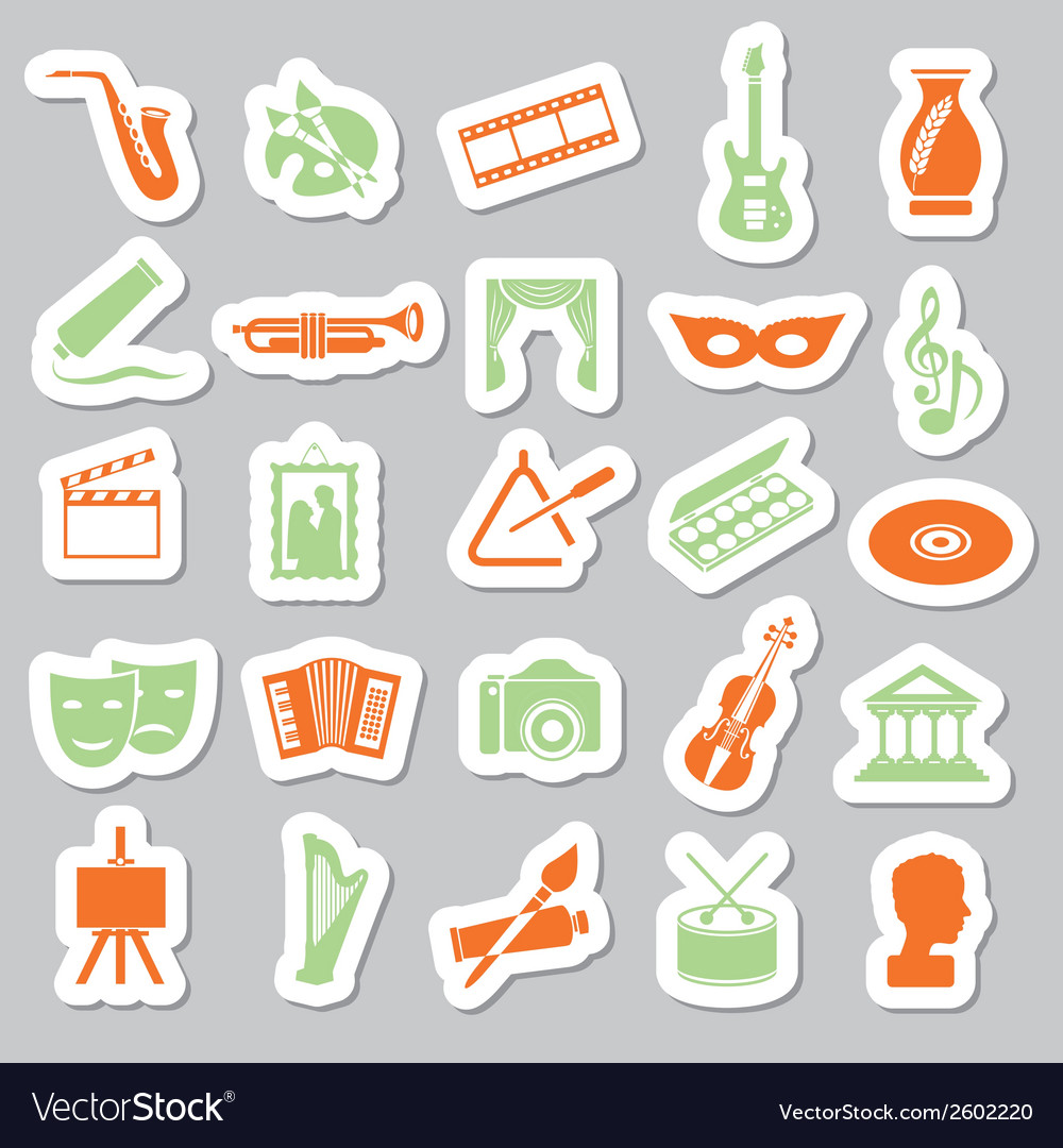 Art and culture stickers vector | Price: 1 Credit (USD $1)
