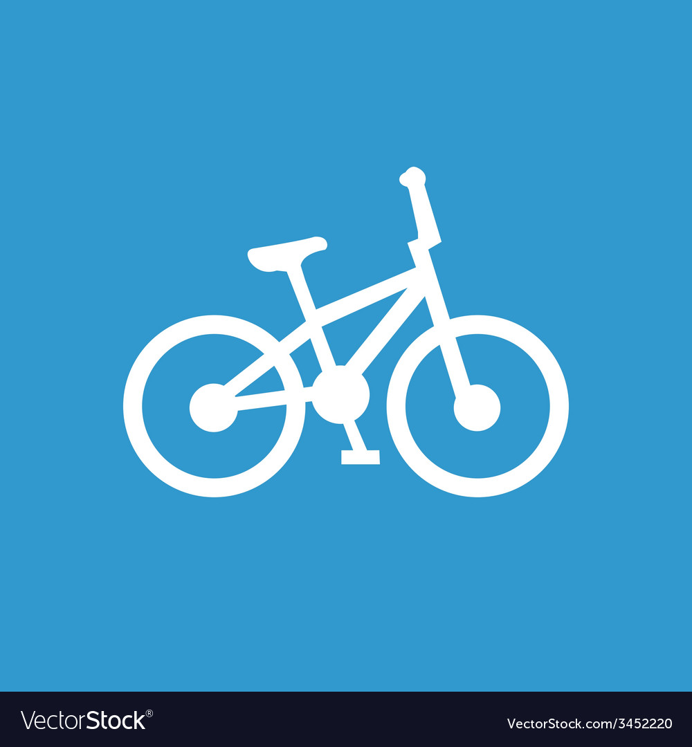 Bike icon white on the blue background vector   Price: 1 Credit (USD $1)