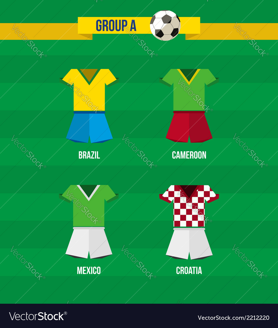 Brazil soccer championship 2014 group a team vector | Price: 1 Credit (USD $1)