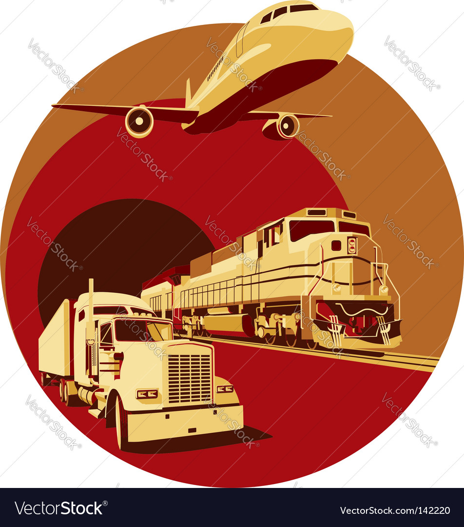 Cargo transportation vector | Price: 3 Credit (USD $3)