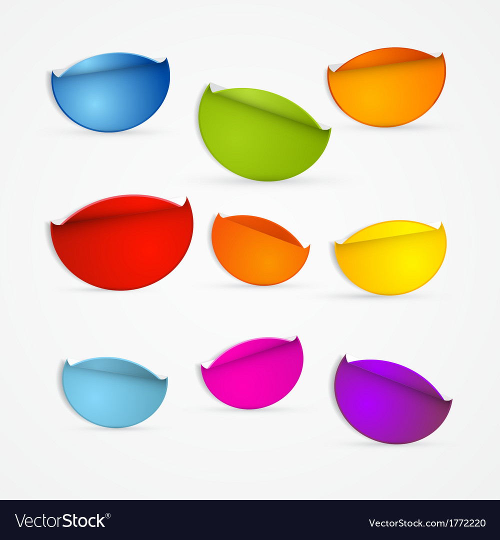 Colorful stickers set vector | Price: 1 Credit (USD $1)