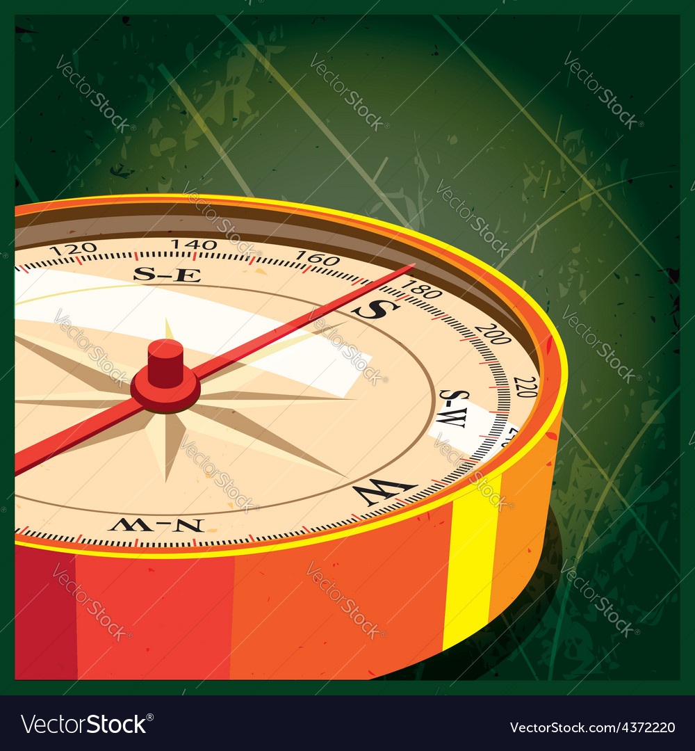 Compass south vector | Price: 1 Credit (USD $1)