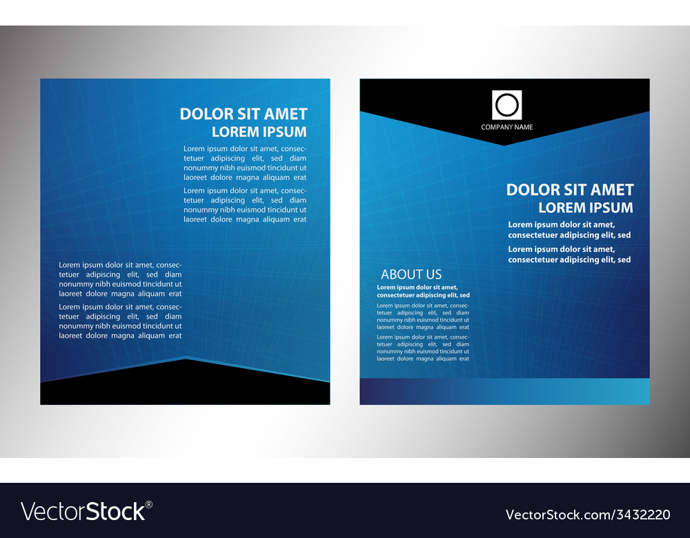 Layout business flyer magazine cover temp vector | Price: 1 Credit (USD $1)