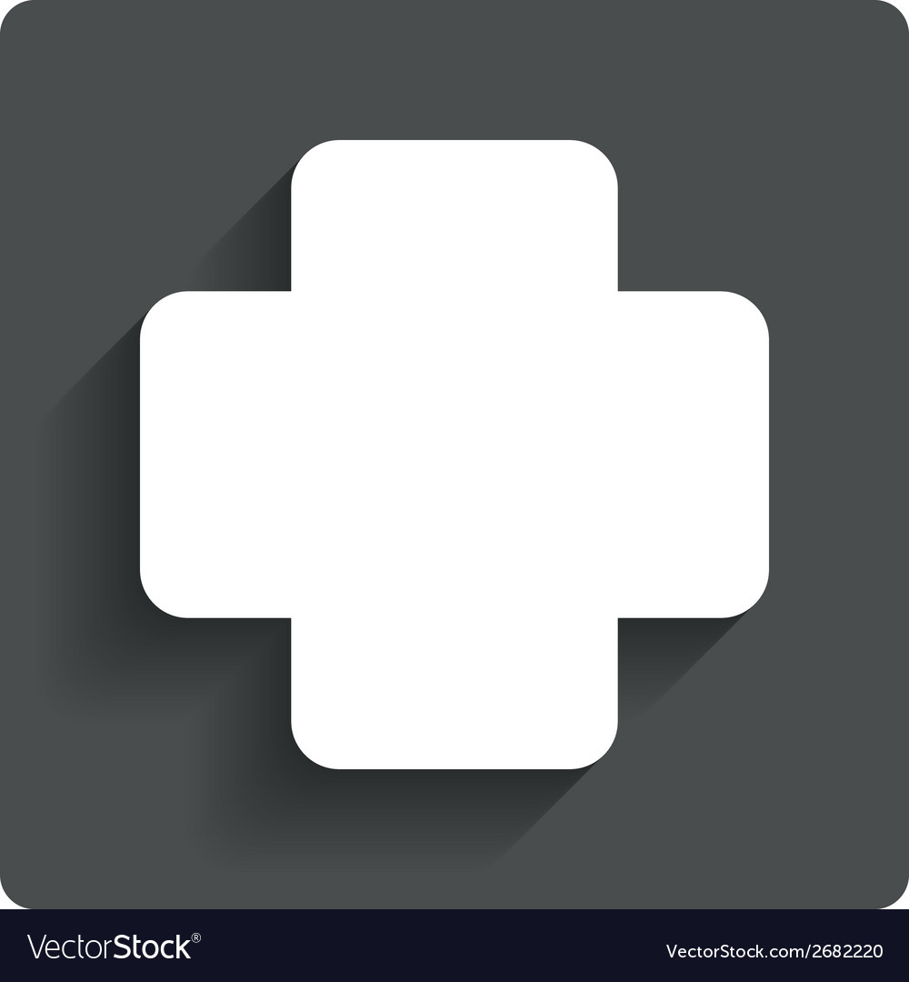 Medical cross sign icon diagnostics symbol vector | Price: 1 Credit (USD $1)