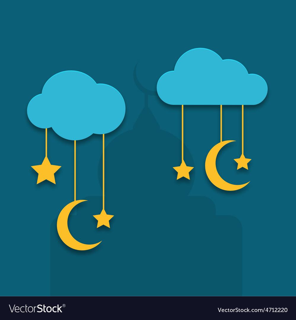 Modern ramadan background design vector | Price: 1 Credit (USD $1)