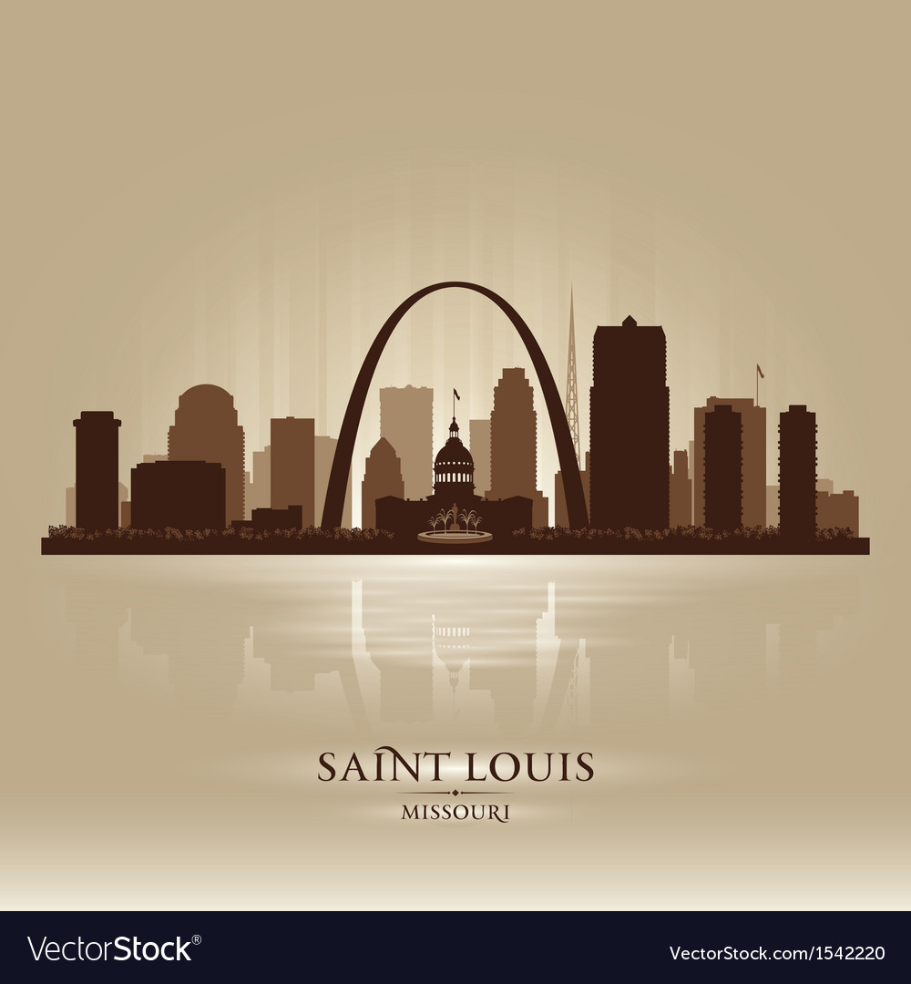 Saint louis missouri city skyline silhouette vector | Price: 1 Credit (USD $1)