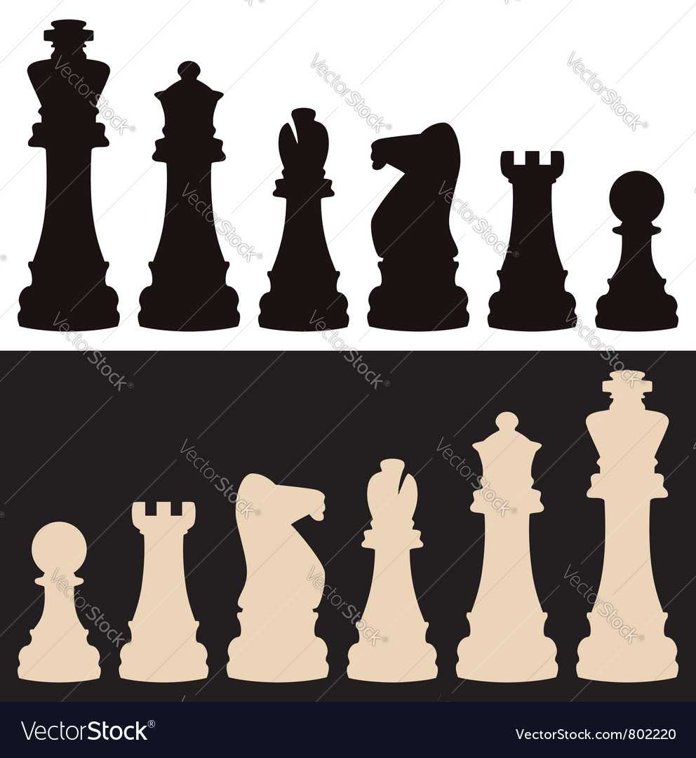 Set of chess pieces vector | Price: 1 Credit (USD $1)