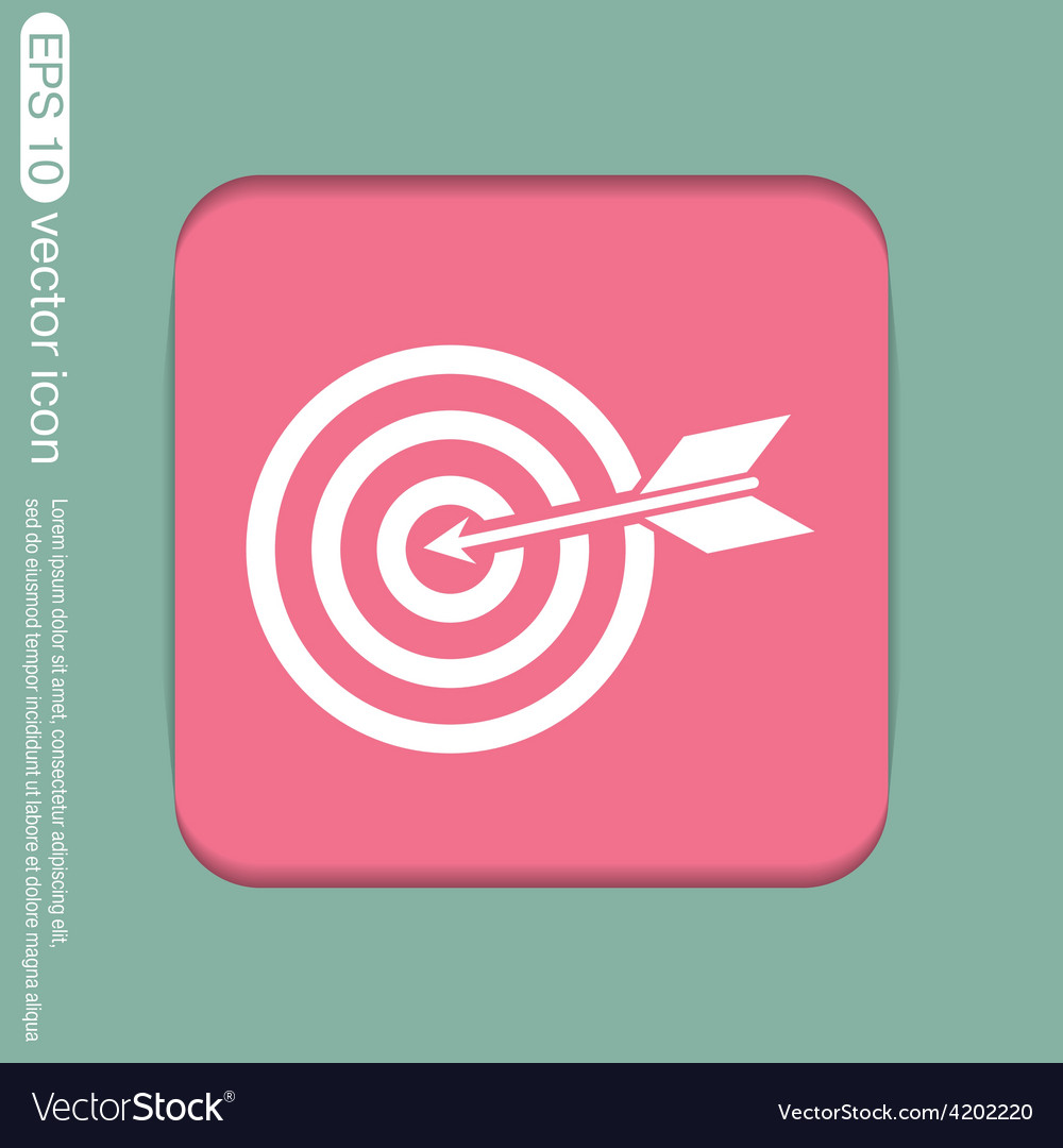Target symbol sporty character hit the target vector | Price: 1 Credit (USD $1)