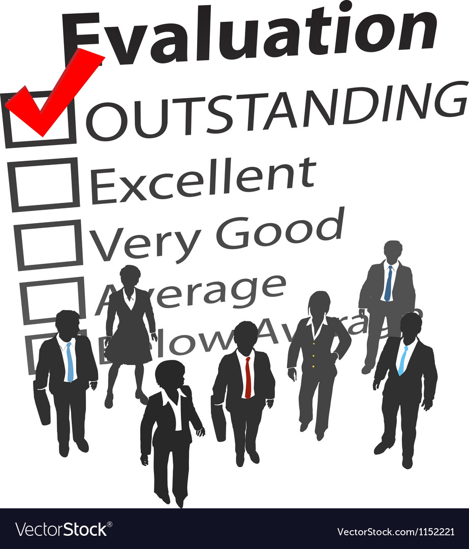 Business team best human resources evaluation vector | Price: 1 Credit (USD $1)