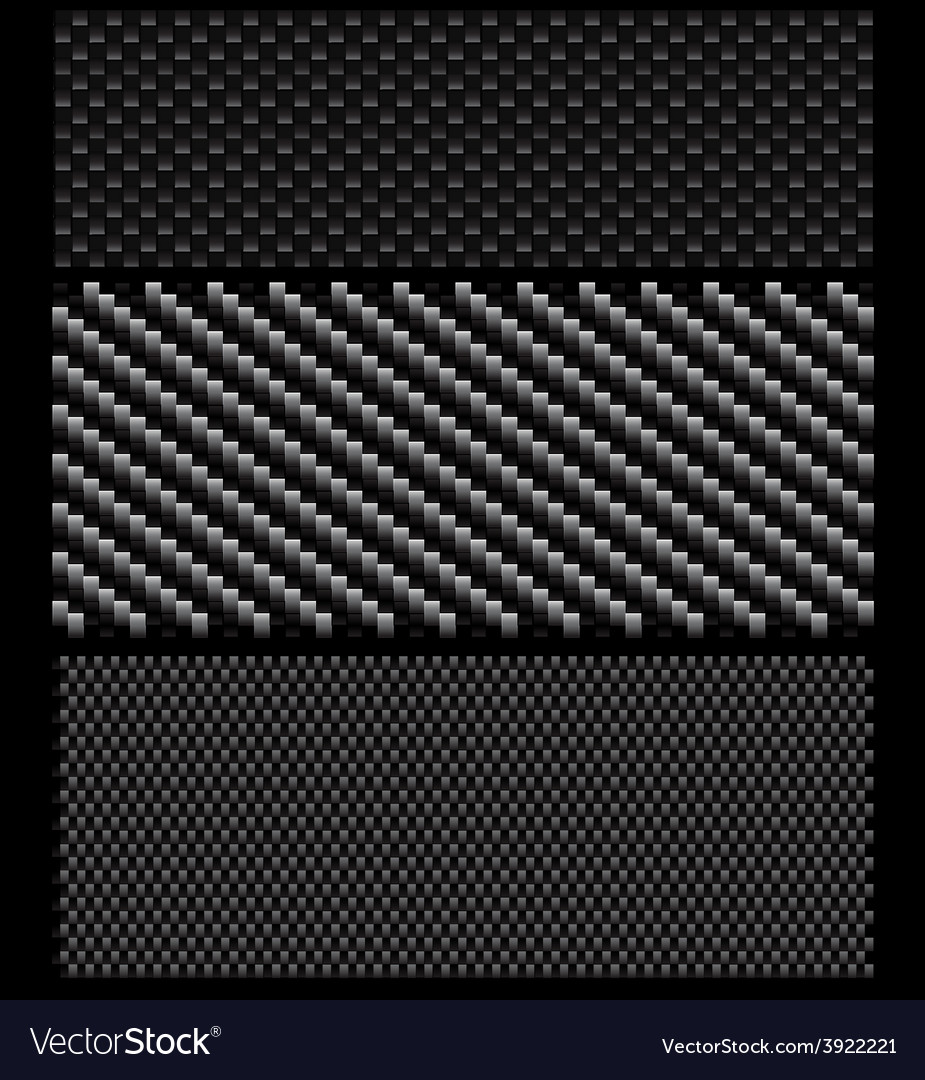 Carbon pattern set vector | Price: 1 Credit (USD $1)