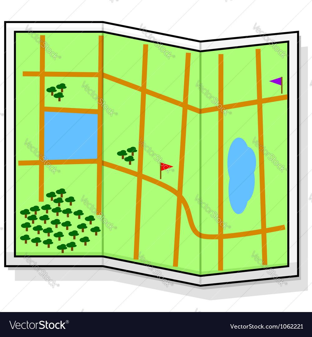 Cartoon map vector | Price: 1 Credit (USD $1)
