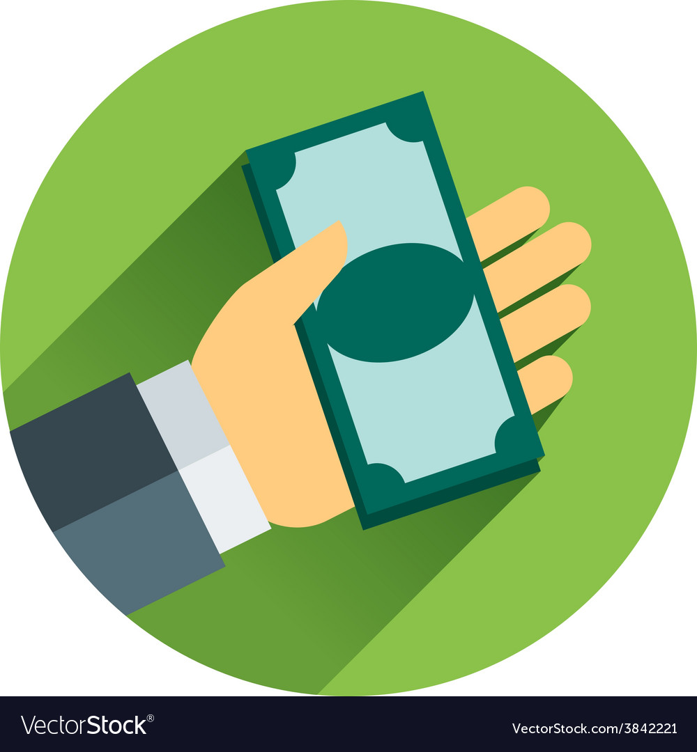 Cash on hand cartoon business vector | Price: 1 Credit (USD $1)