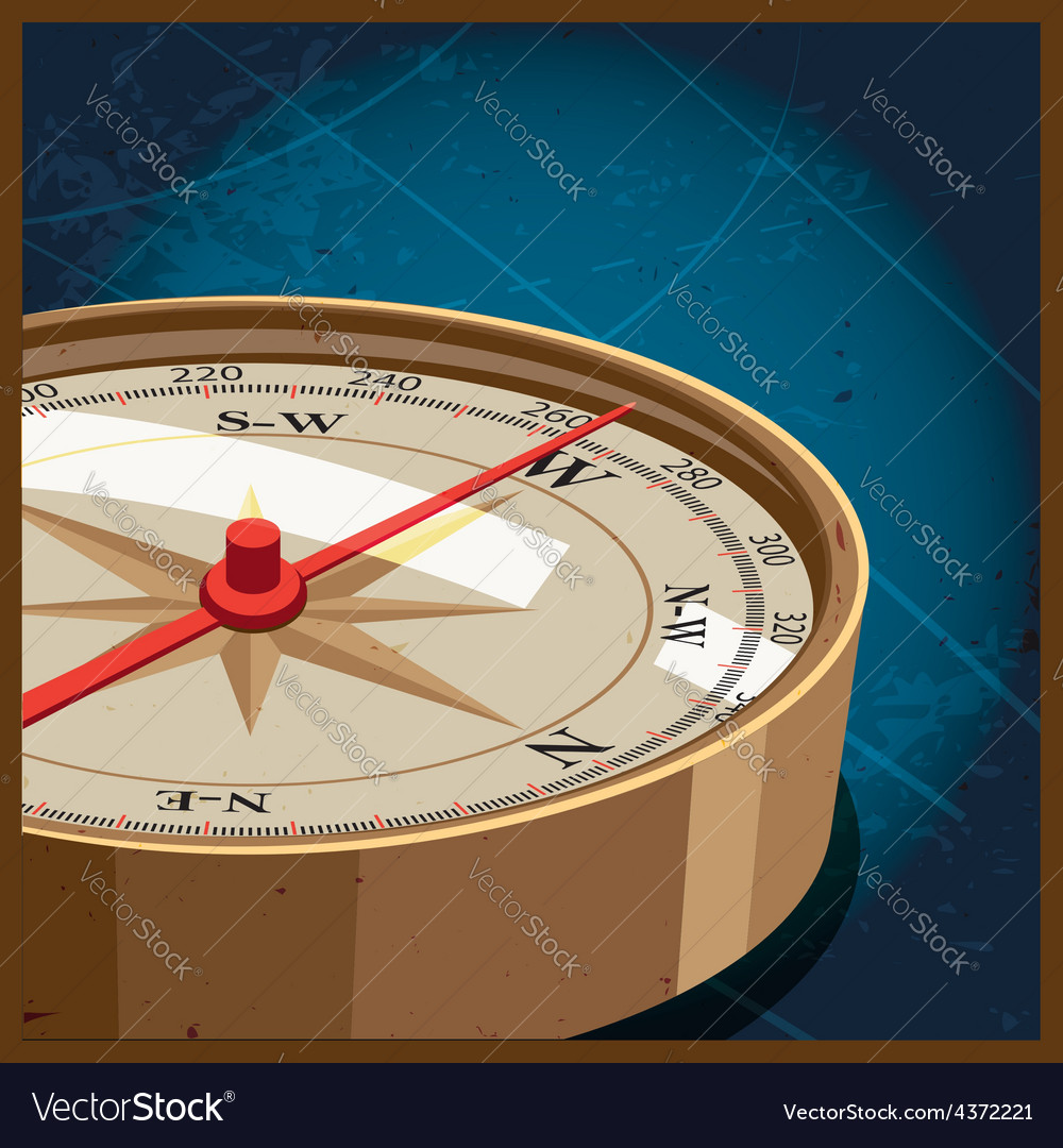 Compass west vector | Price: 1 Credit (USD $1)