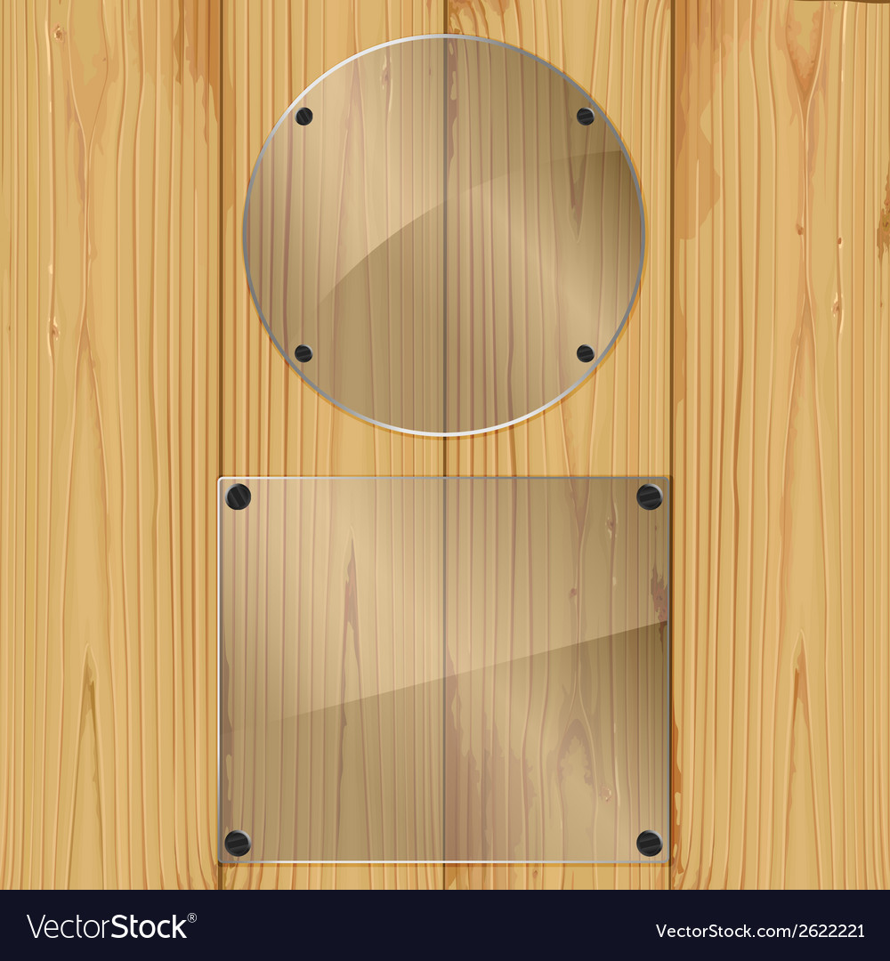 Glass on a planks vector | Price: 1 Credit (USD $1)