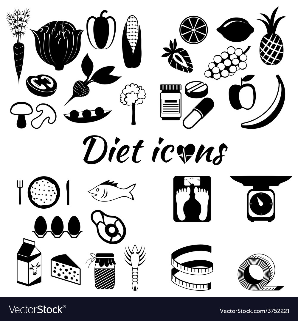 Healthy lifestyle a healthy diet and daily vector   Price: 1 Credit (USD $1)