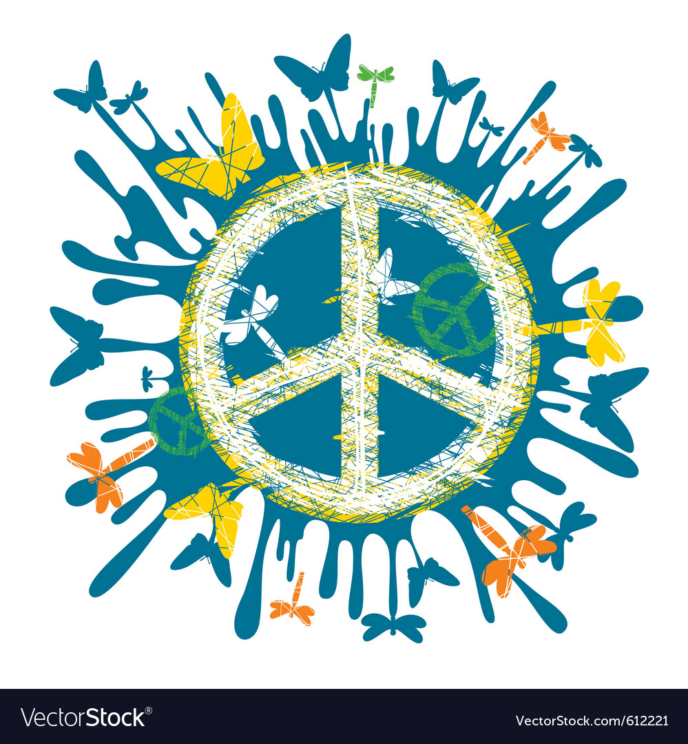 Hippie peace symbol vector | Price: 1 Credit (USD $1)