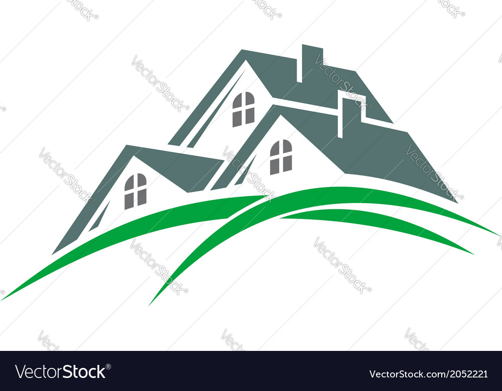Houses in a green eco environment vector | Price: 1 Credit (USD $1)
