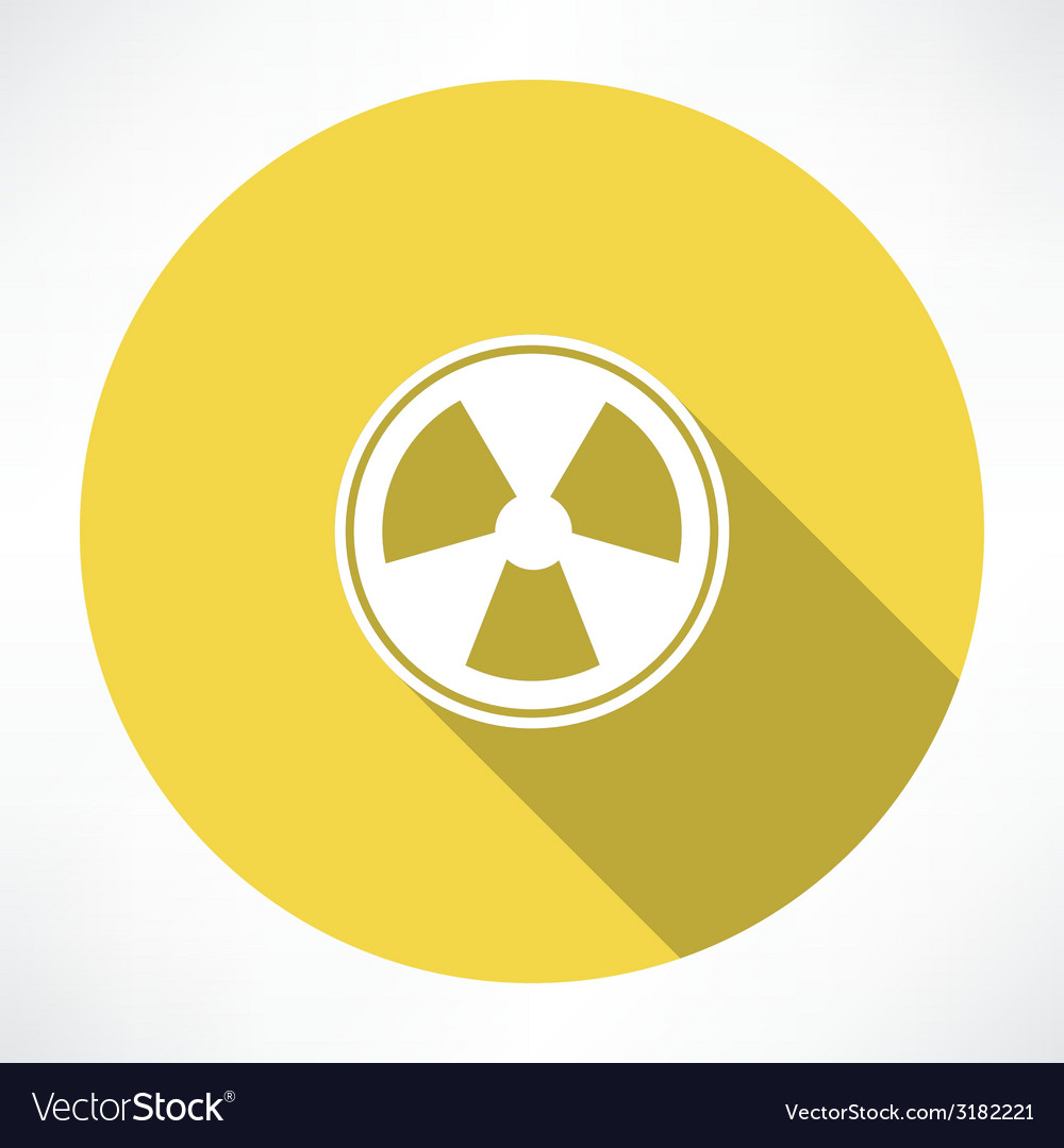 Radiation sign icon vector | Price: 1 Credit (USD $1)