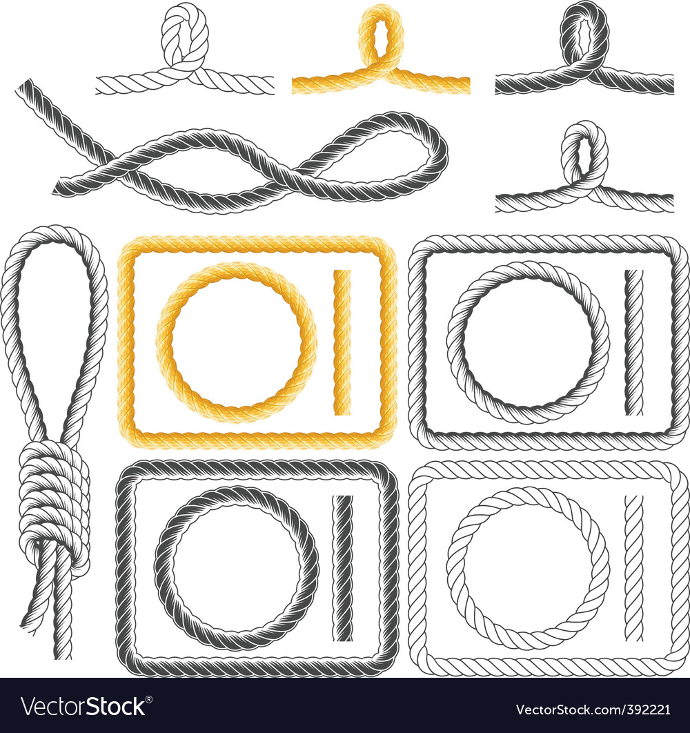 Rope frames four styles vector | Price: 1 Credit (USD $1)