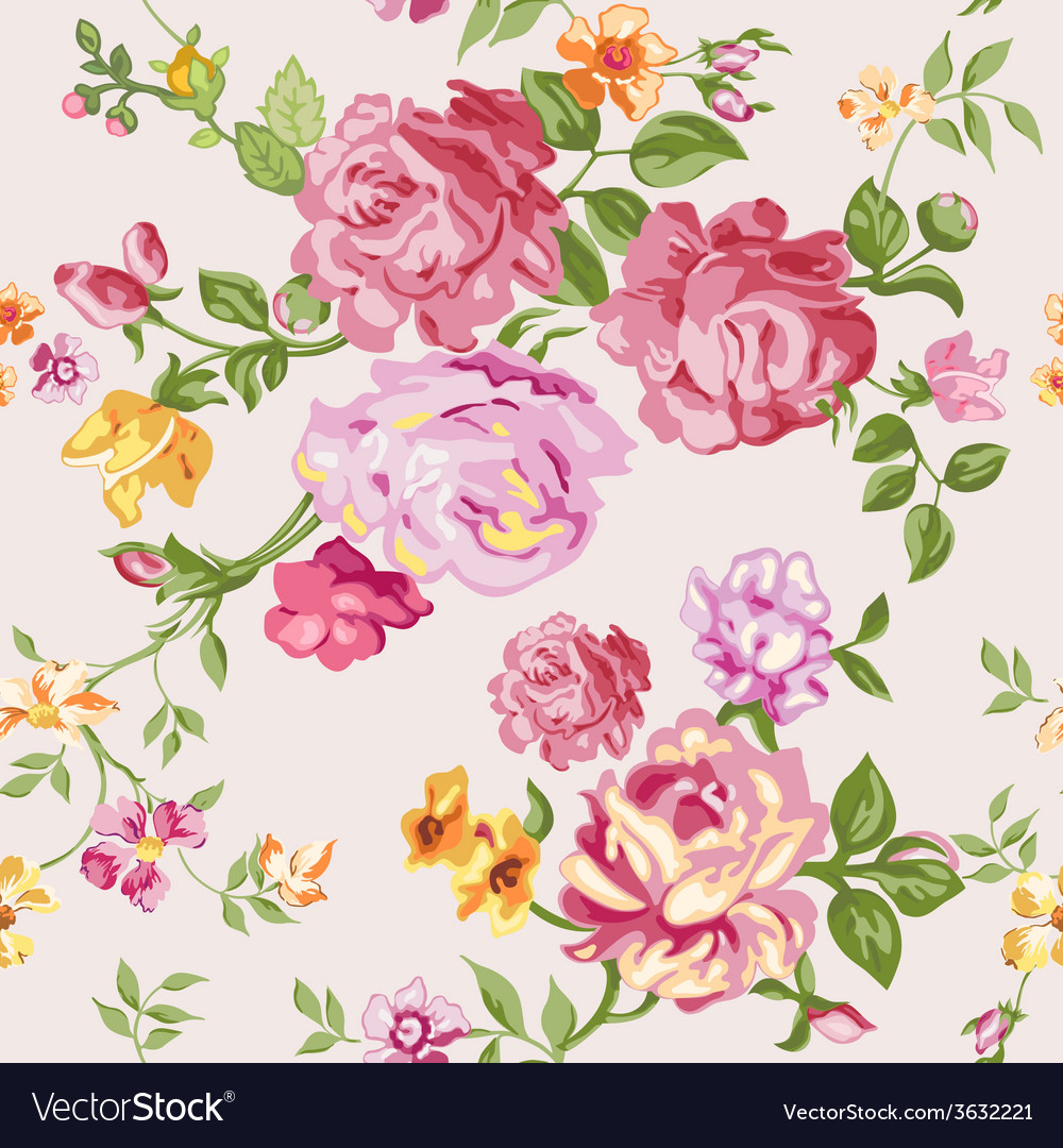 Seamless flower background vector   Price: 1 Credit (USD $1)
