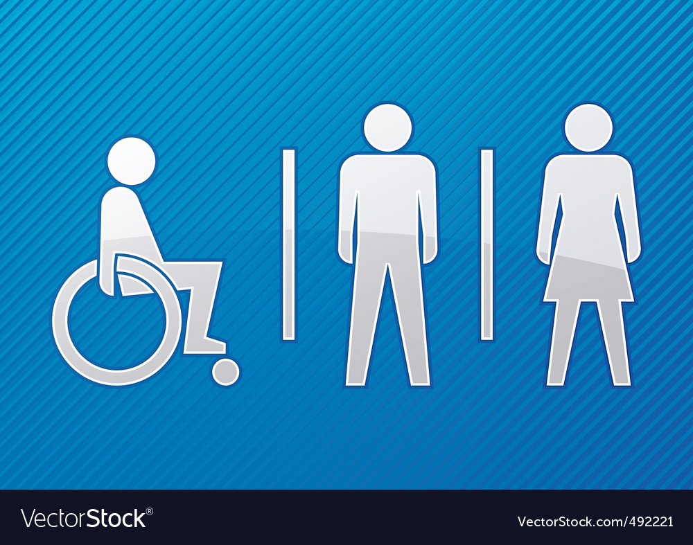 Toilet symbol vector | Price: 1 Credit (USD $1)