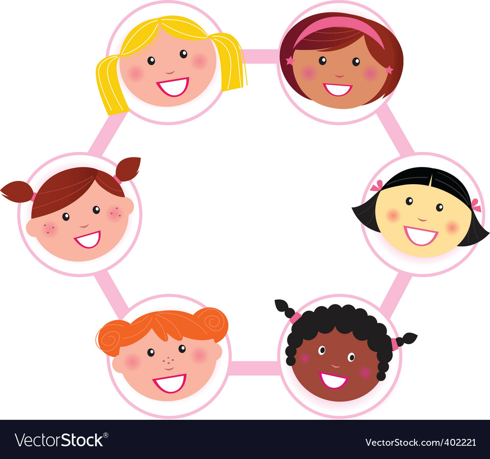 Unity  multi cultural woman vector | Price: 1 Credit (USD $1)