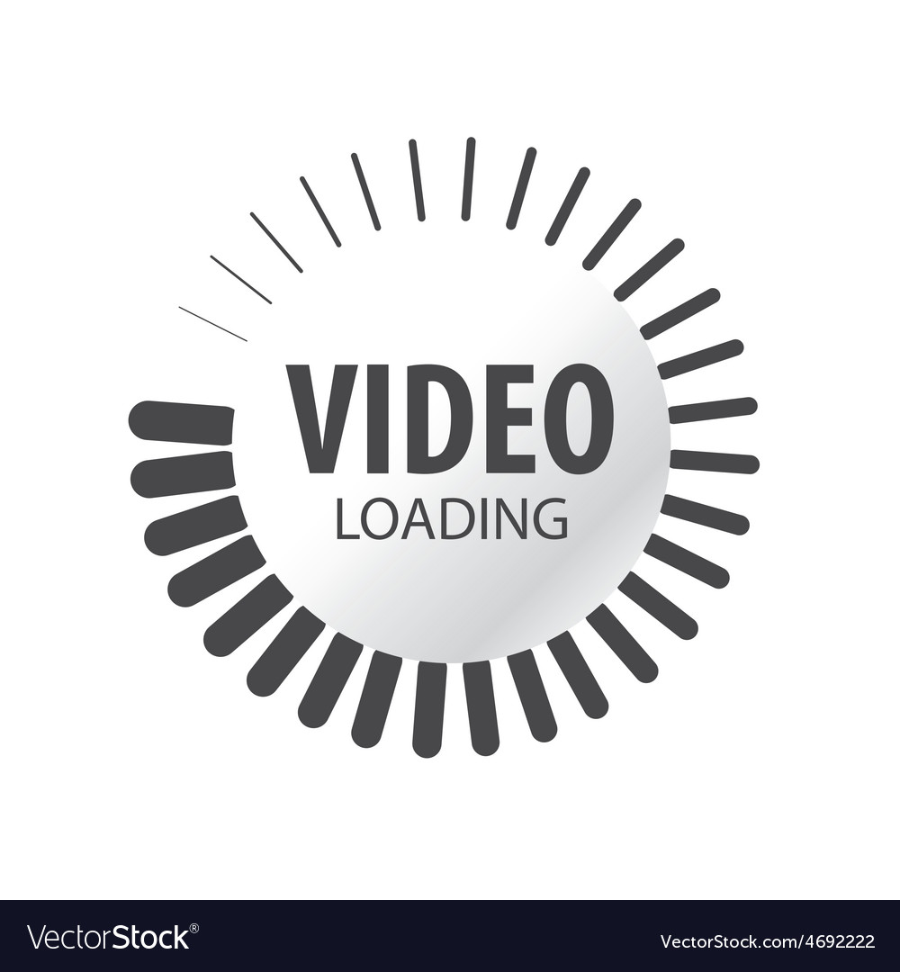Abstract logo video loading vector | Price: 1 Credit (USD $1)
