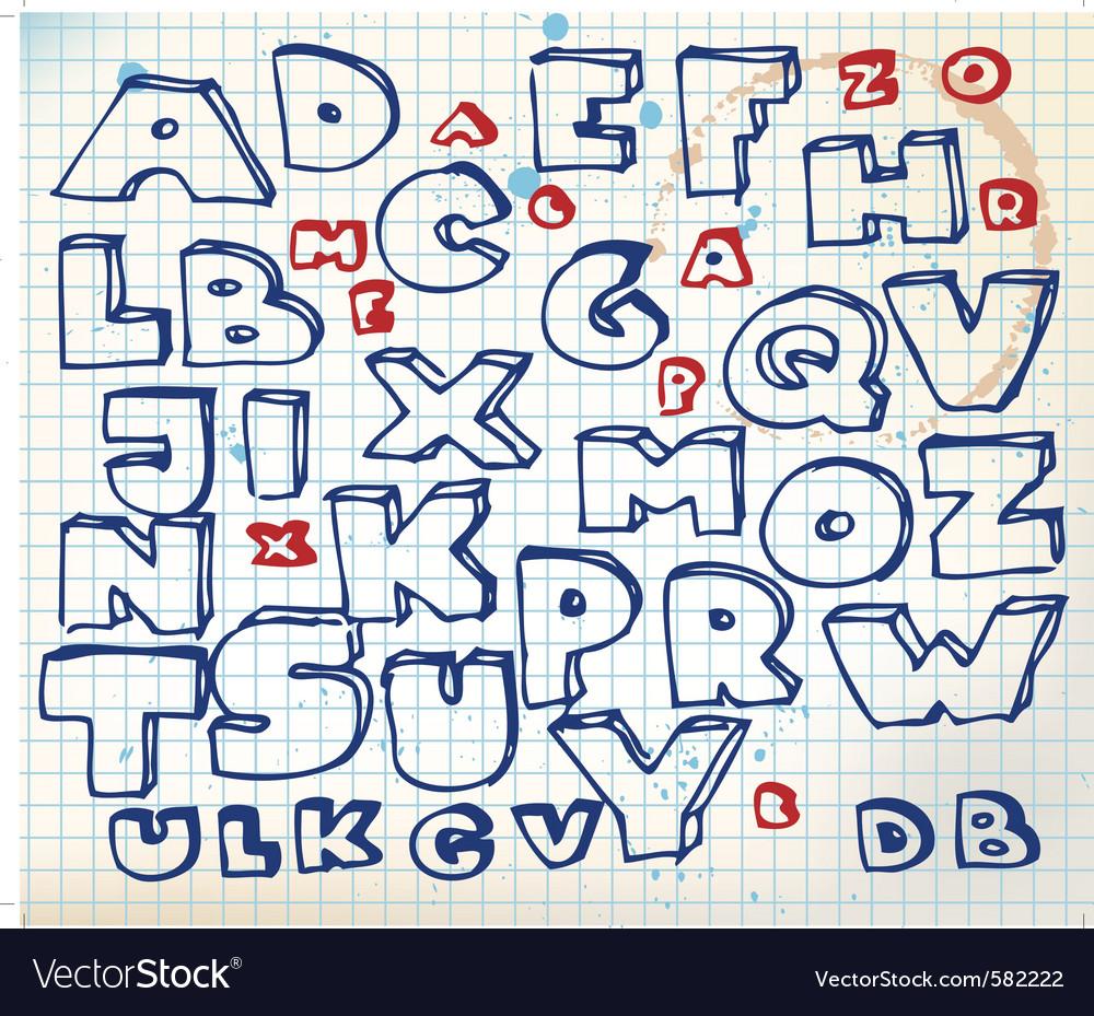 Alphabet doodle vector   Price: 1 Credit (USD $1)