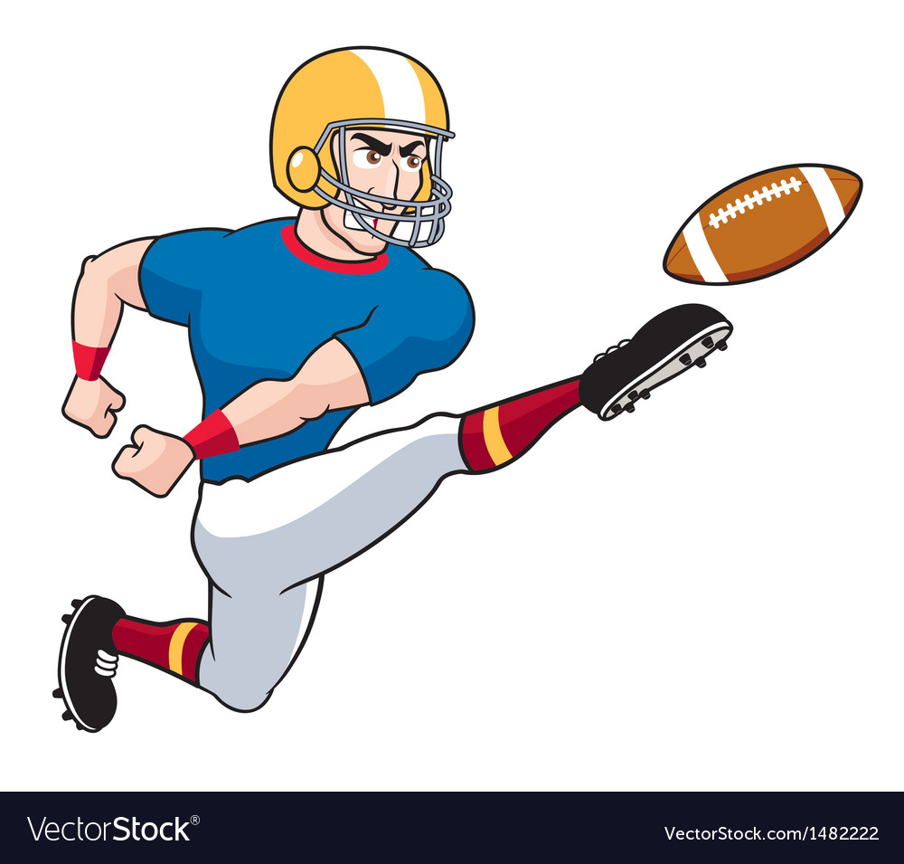American football player vector | Price: 1 Credit (USD $1)