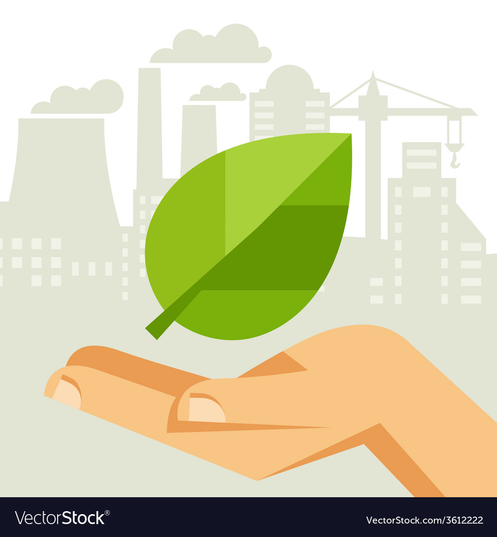 Ecology protection concept vector | Price: 1 Credit (USD $1)