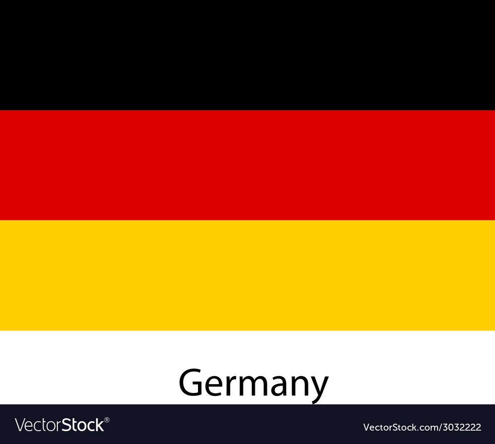 Flag of the country germany vector | Price: 1 Credit (USD $1)
