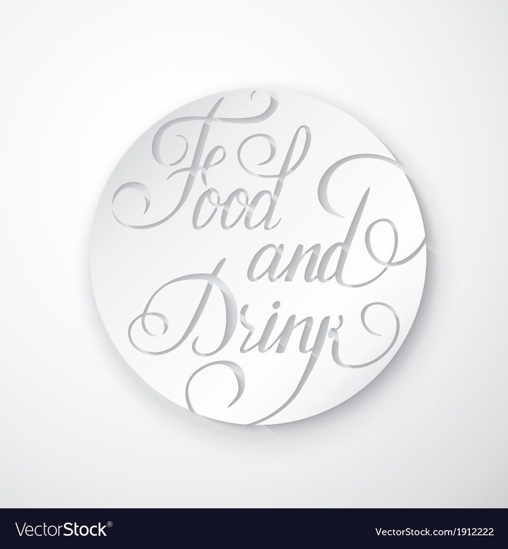 Food and drink poster - lettering vector | Price: 1 Credit (USD $1)