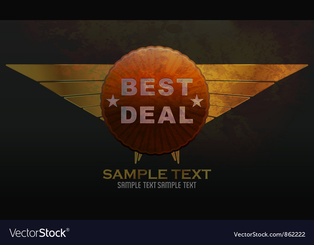 Grunge label vector   Price: 1 Credit (USD $1)