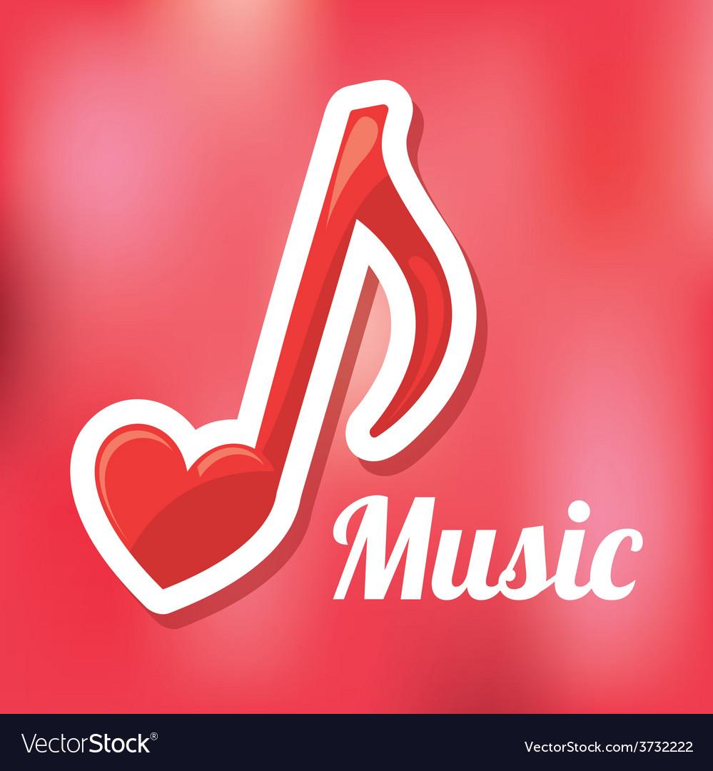 Love music vector   Price: 1 Credit (USD $1)