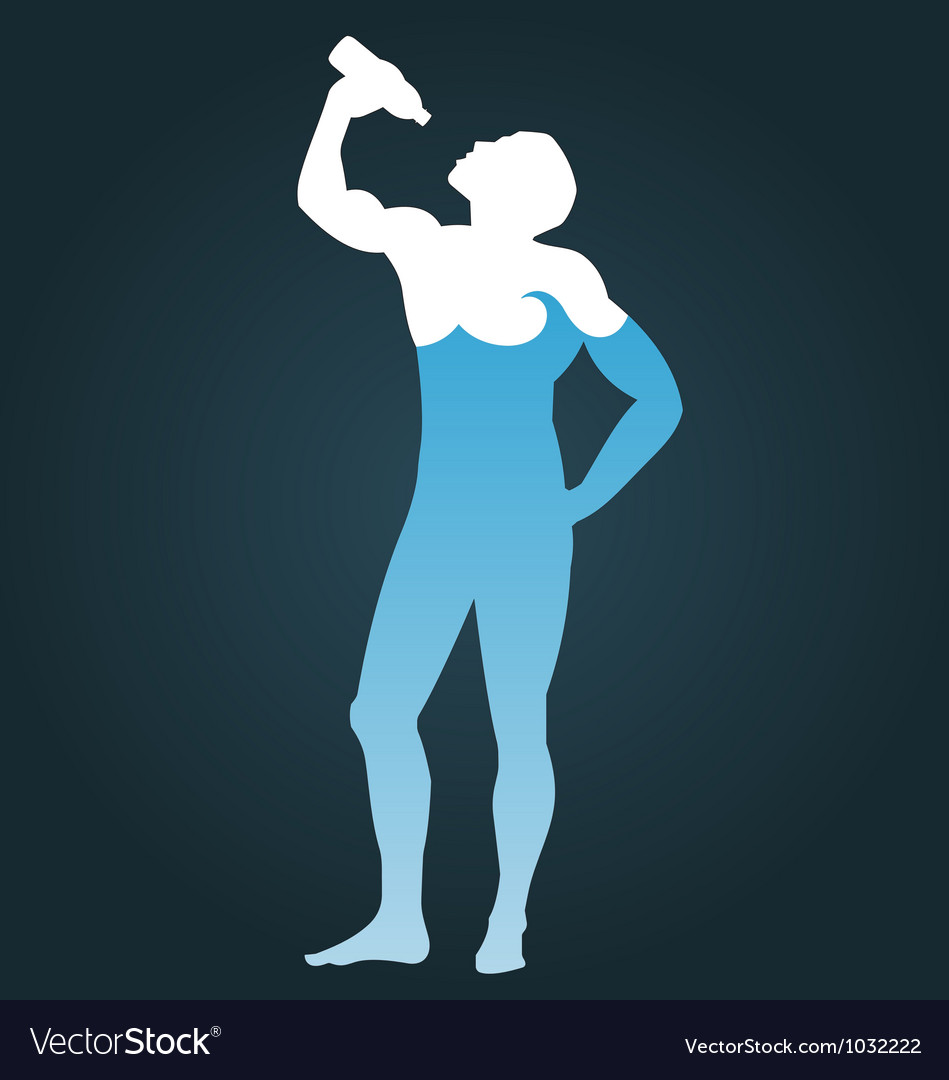 Man consisting of water vector | Price: 1 Credit (USD $1)