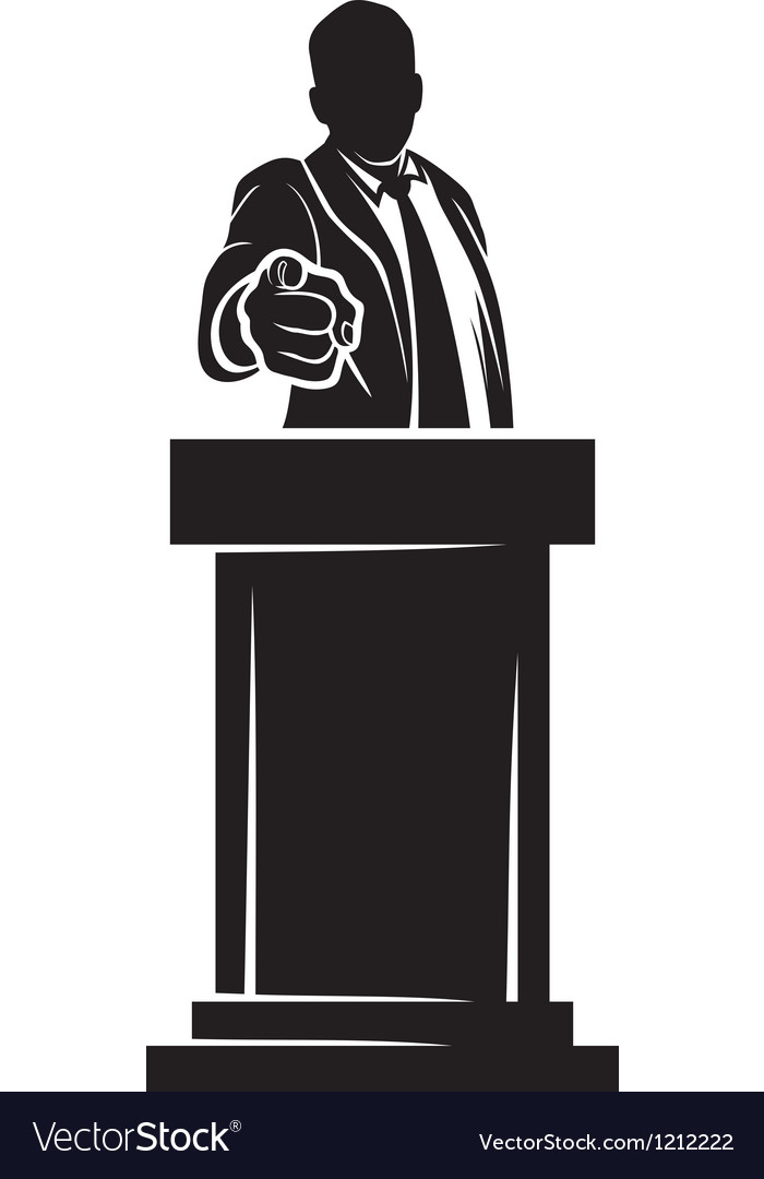 Man giving speech vector | Price: 1 Credit (USD $1)