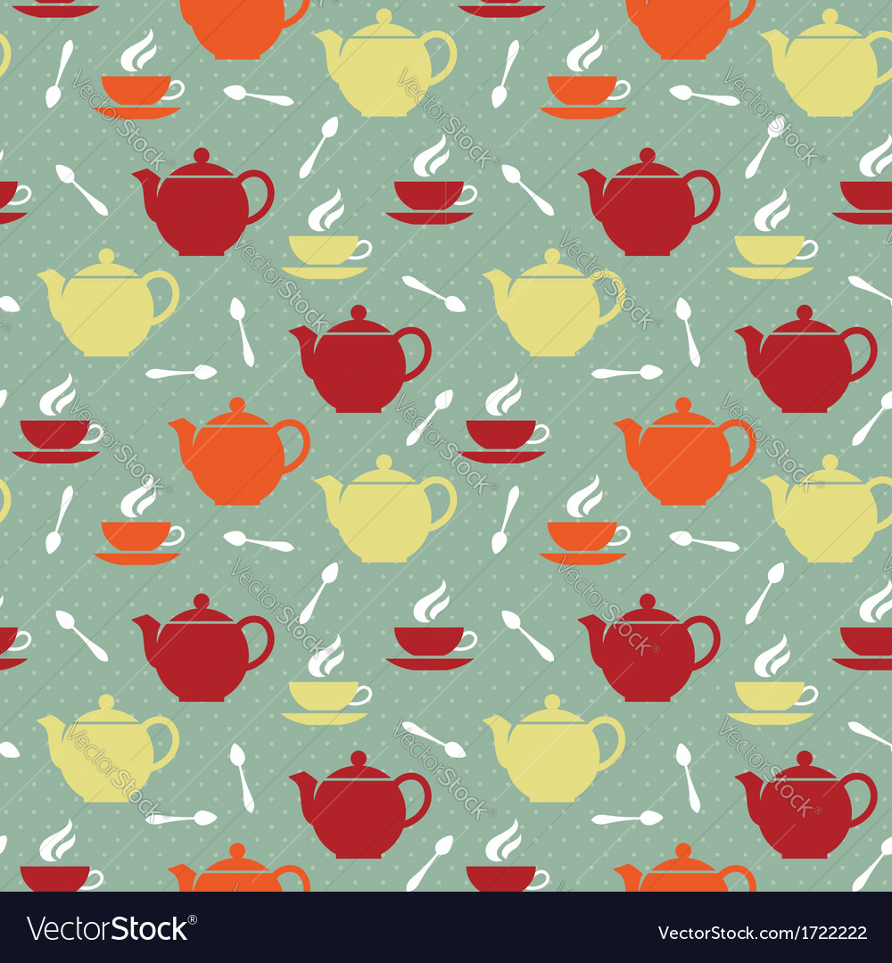 Teapots and teacups vector | Price: 1 Credit (USD $1)