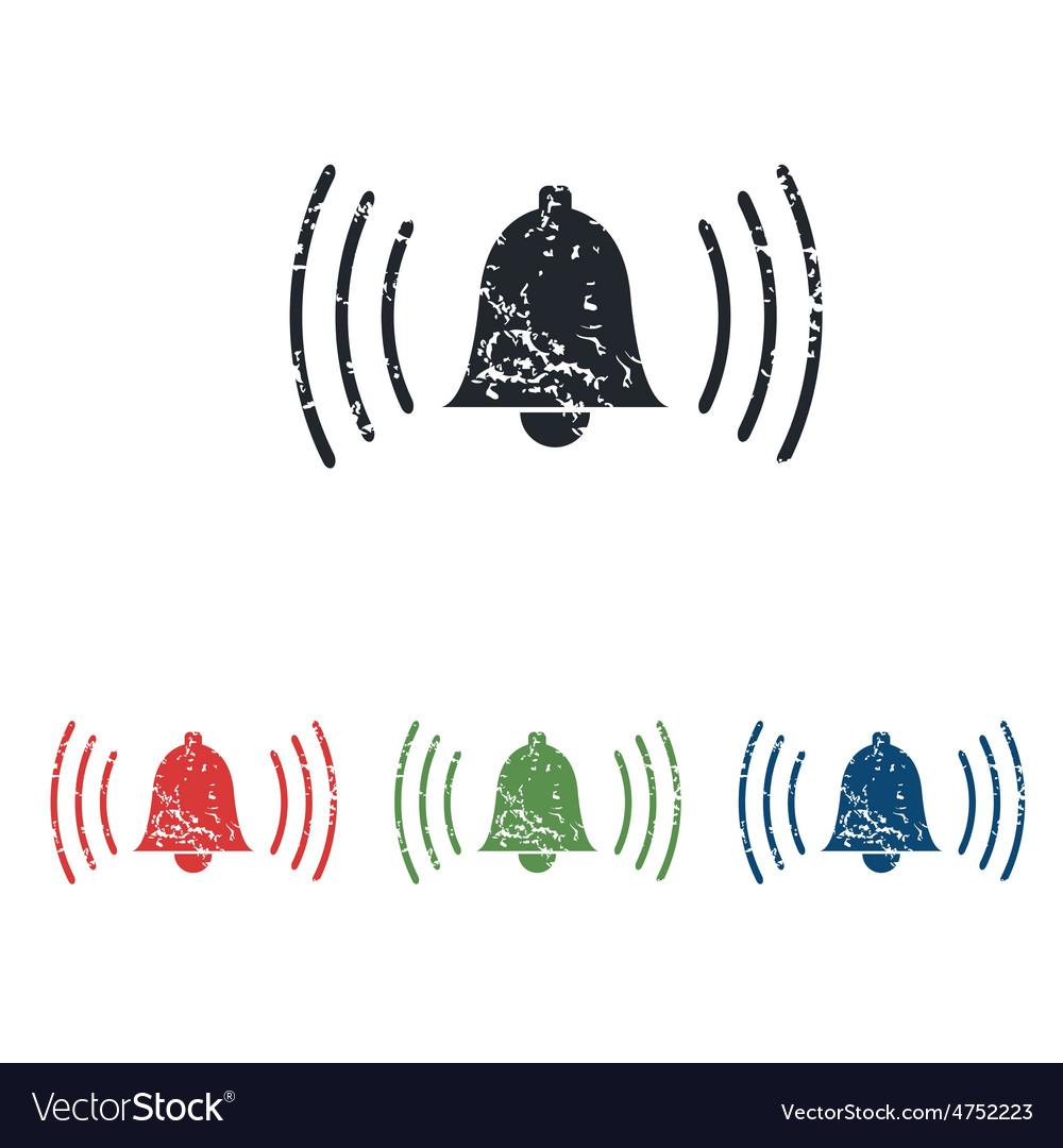 Alarm grunge icon set vector | Price: 1 Credit (USD $1)