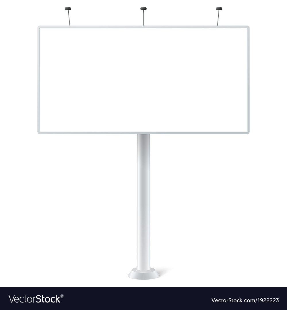 Blank outdoor billboard vector | Price: 1 Credit (USD $1)