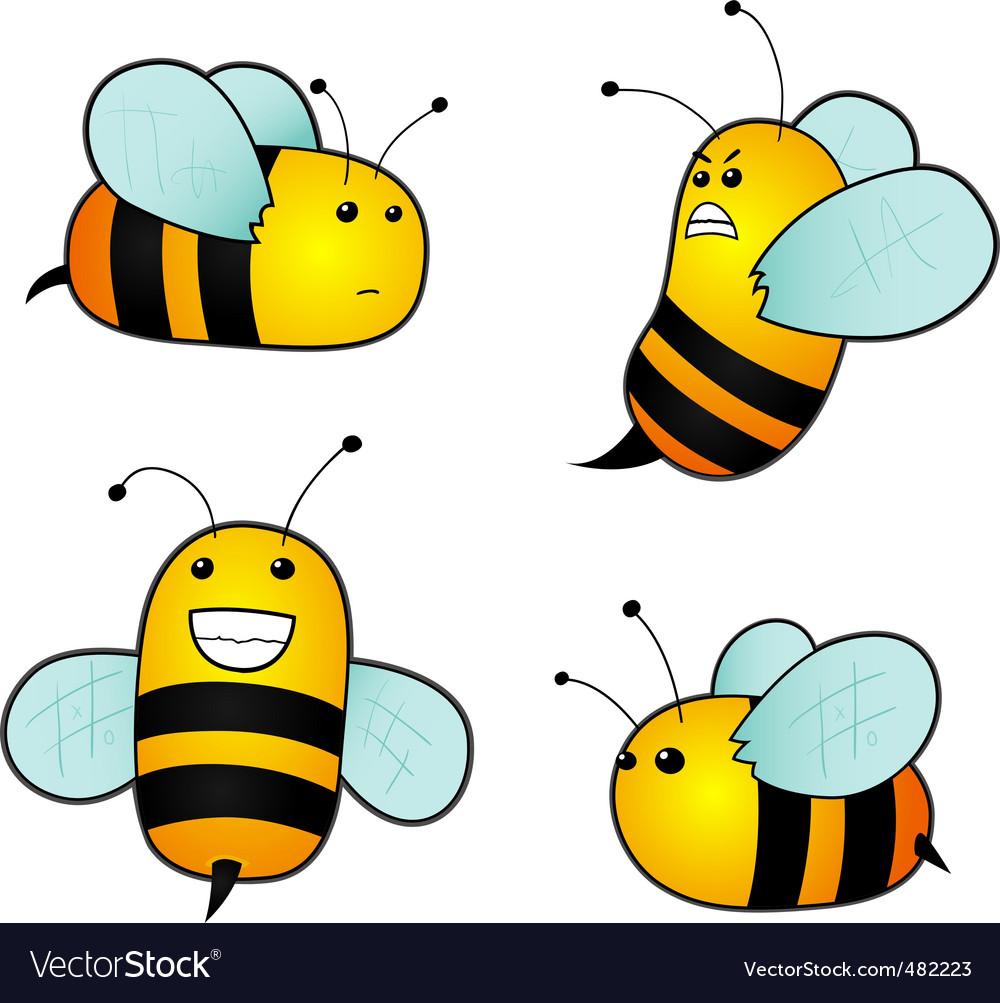 Cartoon bees vector   Price: 1 Credit (USD $1)