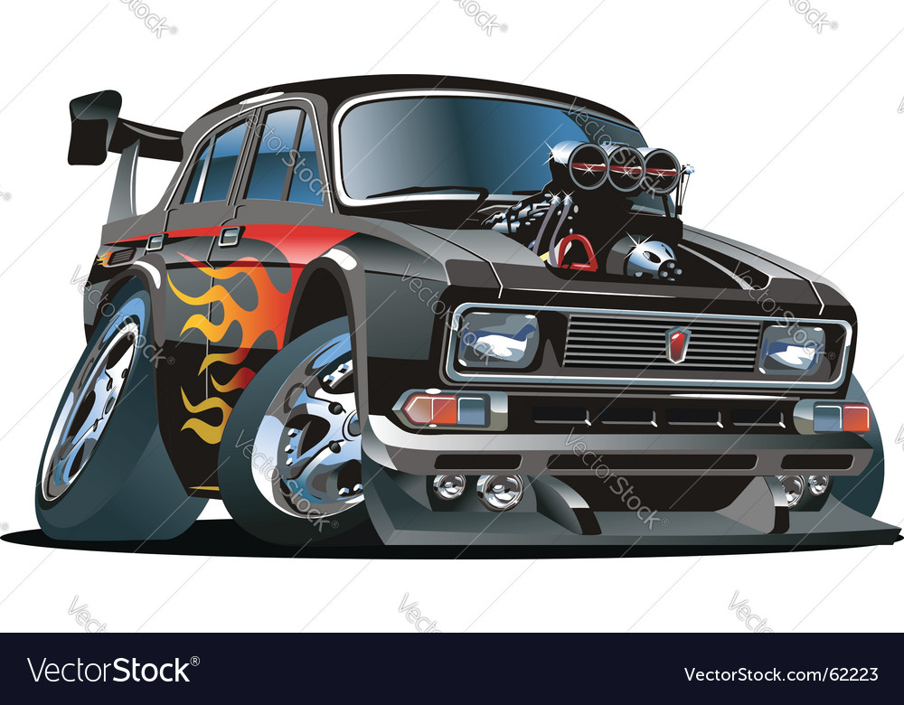 Cartoon hot-rod vector | Price: 3 Credit (USD $3)