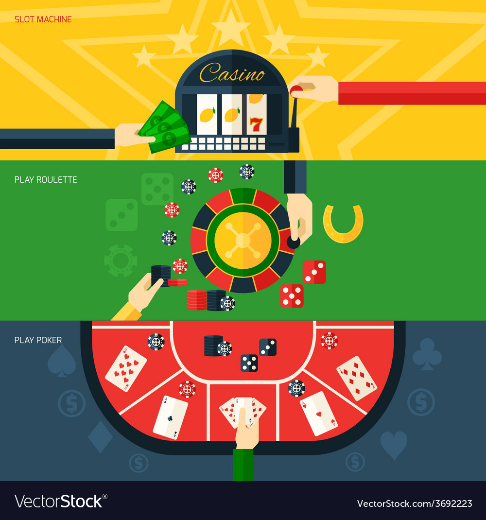 Casino banner set vector | Price: 1 Credit (USD $1)