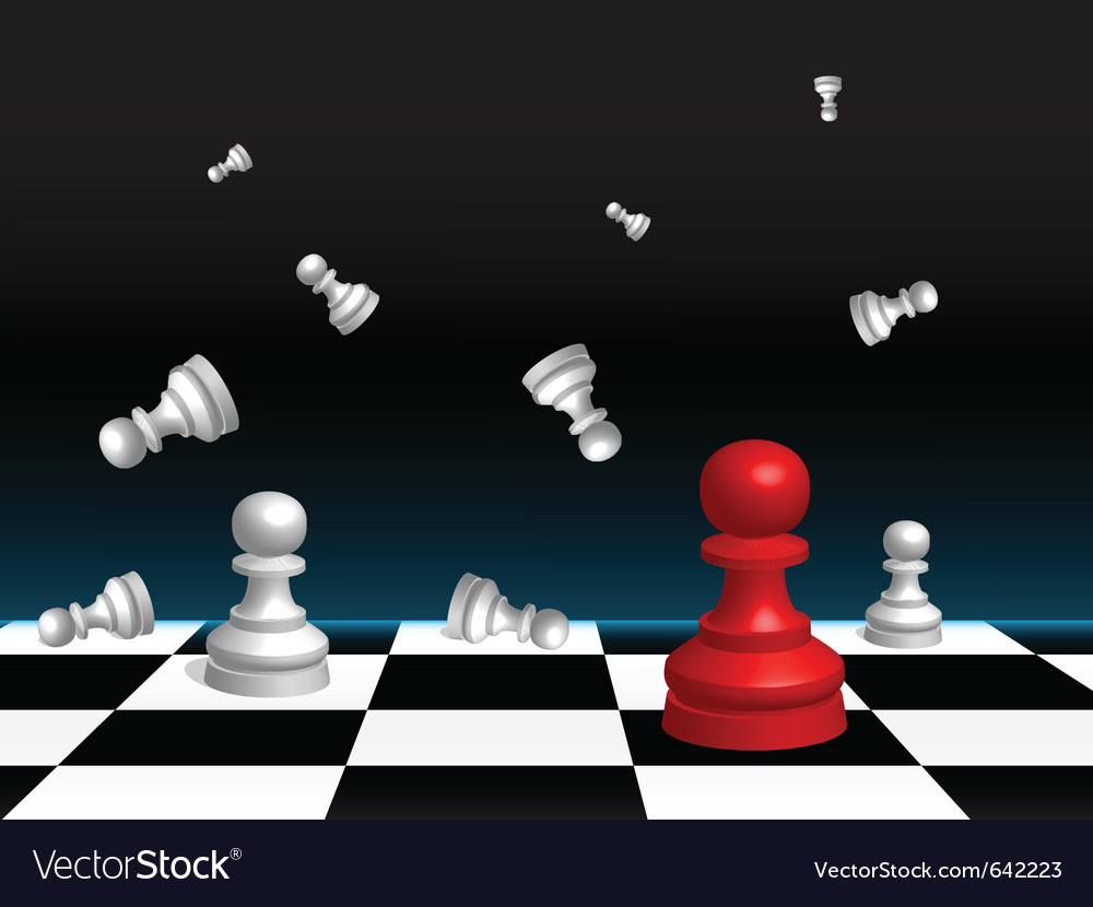 Chess board and pieces vector | Price: 3 Credit (USD $3)