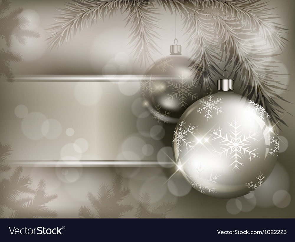 Christmas background baubles vector | Price: 1 Credit (USD $1)