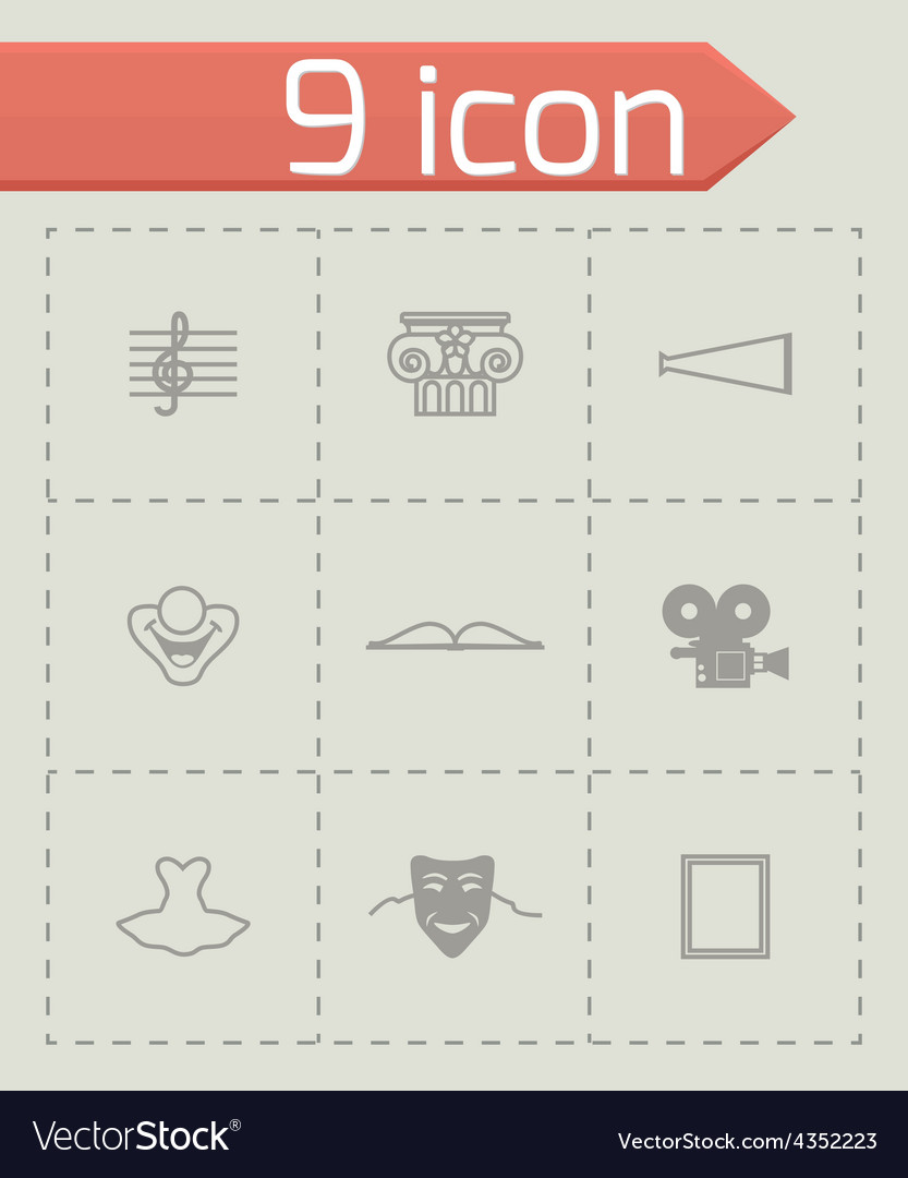 Culture icon set vector | Price: 1 Credit (USD $1)