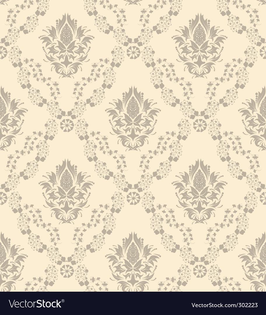 Damask wallpaper pattern vector | Price: 1 Credit (USD $1)
